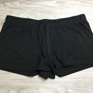 Calvin Klein Black Pajama Shorts Large